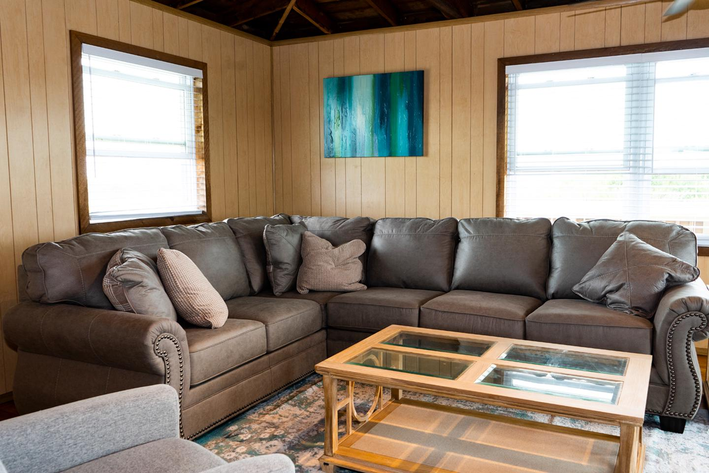 Living room in a beach house.Living Area