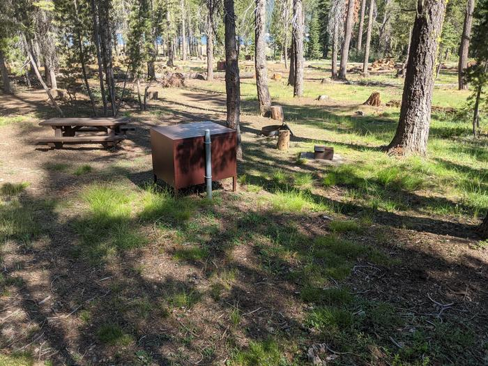 Little Beaver Site #7 Photo 2Site #7 with picnic table, bear box, fire ring, and grill in view