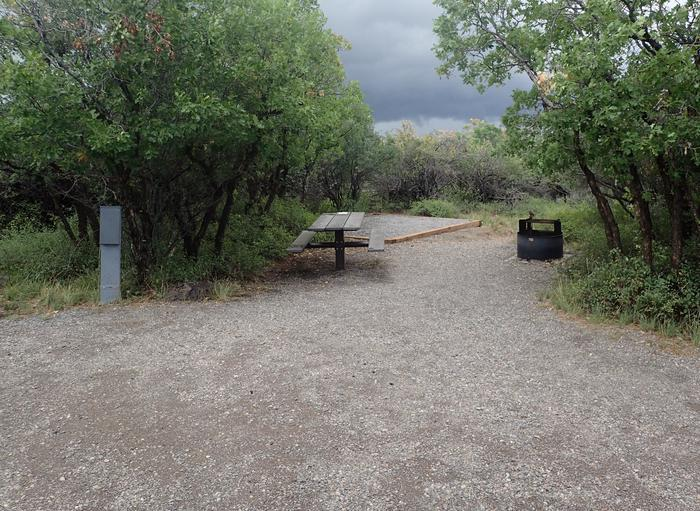 View of amenities within Campsite B-019