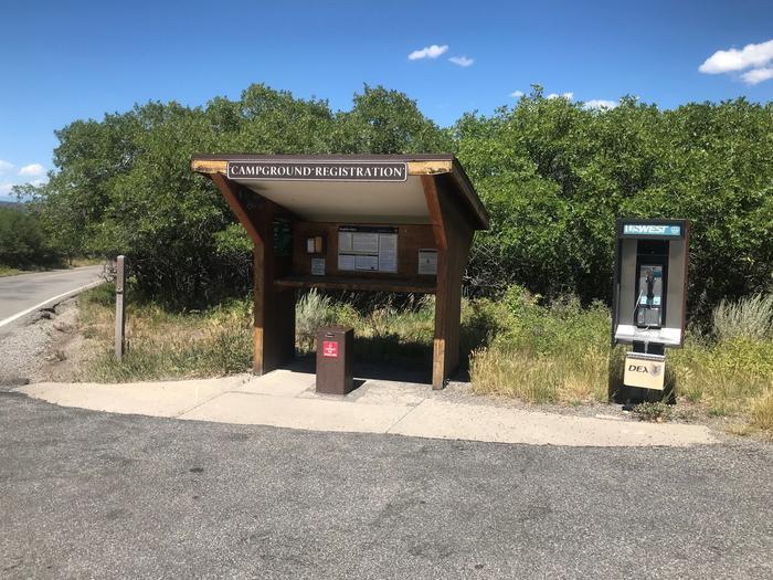 South Rim Campground Registration Kiosk