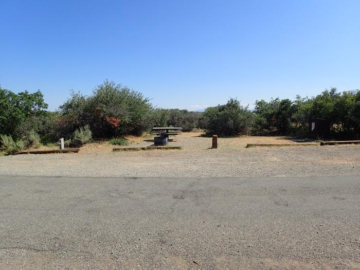 View of Campsite A-017 from across road