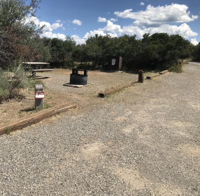 Drive-up view of Campsite A-017