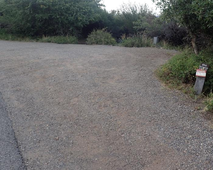 Drive-up view of Campsite B-006