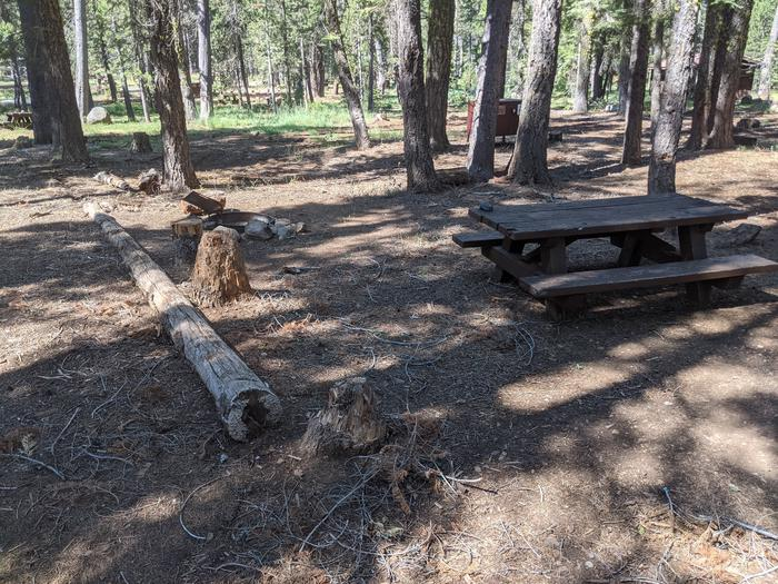 Little Beaver Site #21 Photo 3Alternate view of site #21 with picnic table, fire ring, and bear box in view