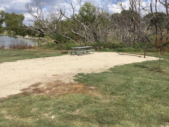 A photo of Site A-019 of Loop A at WEST ROLLING HILLS with Picnic Table, Fire Pit