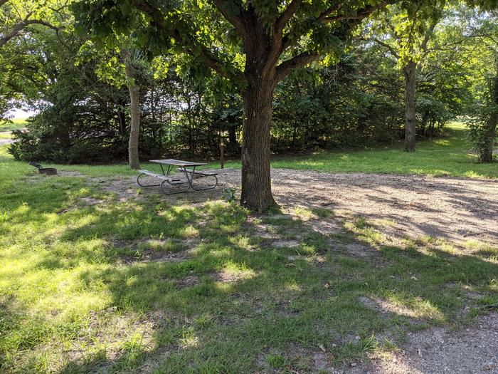 A photo of Site 3 of Loop A at Timber Creek Park with Picnic Table, Fire Pit, Shade