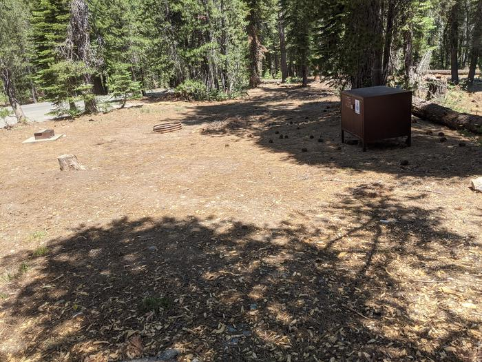 Little Beaver Site #77 Photo 2Site #77 with bear box, fire ring, and grill in view
