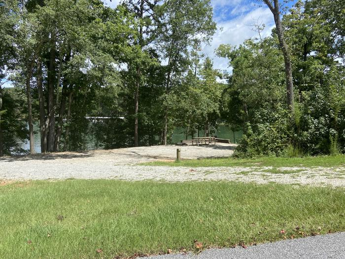 A photo of Site 78 of Loop SPRINGFIELD  at SPRINGFIELD with Picnic Table, Electricity Hookup, Fire Pit, Shade, Tent Pad, Waterfront, Lantern Pole, Water Hookup