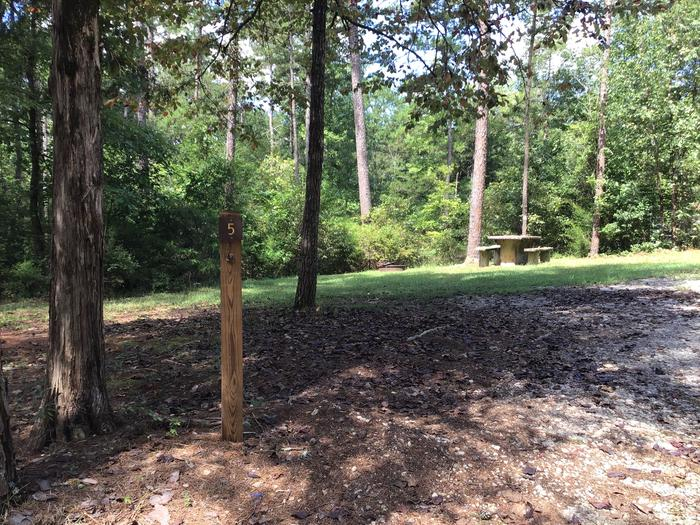 A photo of Site 05 of Loop Woods Ferry at Woods Ferry Campground (SC) with Picnic Table, Fire Pit