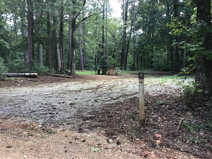 A photo of Site 04 of Loop Woods Ferry at Woods Ferry Campground (SC) with Picnic Table, Fire Pit, Lantern Pole