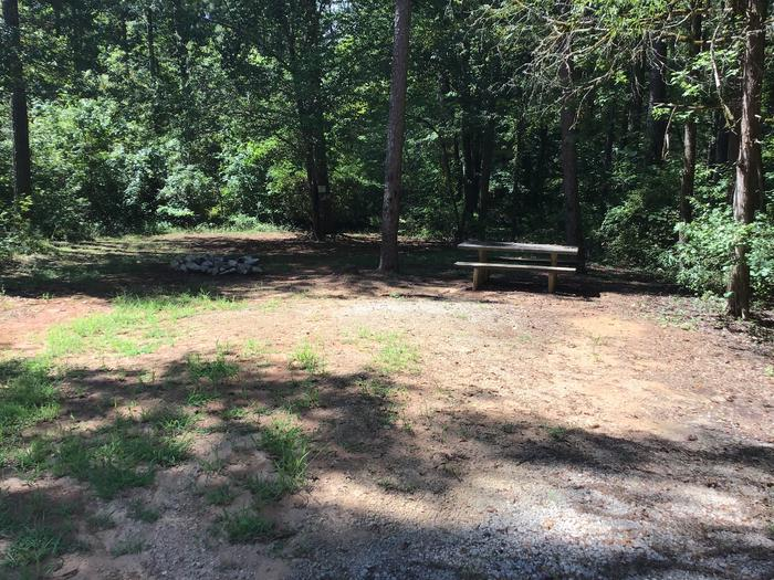A photo of Site 17 of Loop Woods Ferry at Woods Ferry Campground (SC) with Picnic Table, Fire Pit
