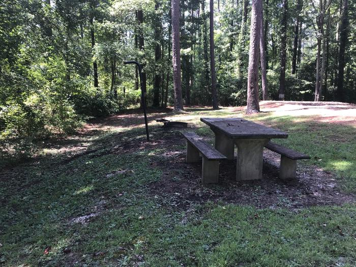 A photo of Site 16 of Loop Brickhouse at Brick House Campground (SC) with Fire Pit, Shade, Lantern Pole