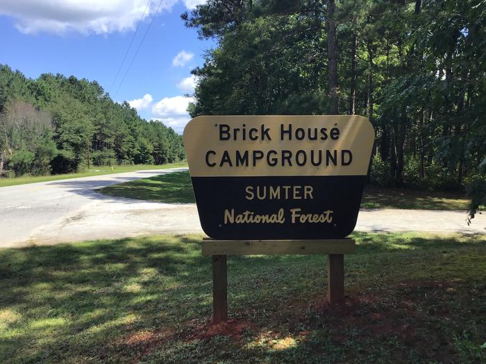 Entrance to Brick House Campground (SC) off SR66 Entrance to Brick House Campground (SC)