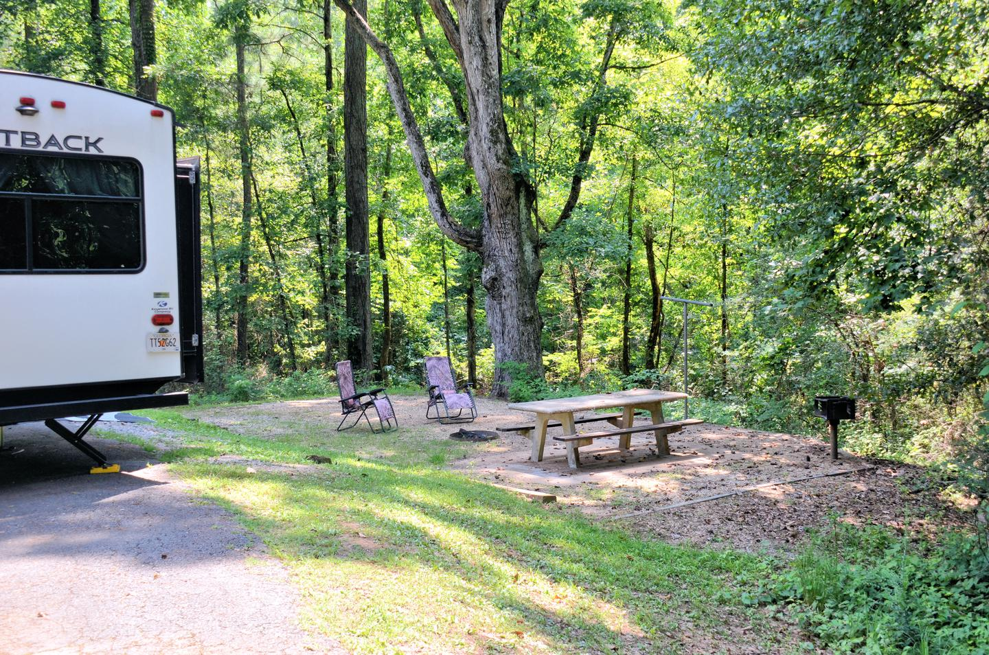 Campsite view.Sweetwater Campground, campsite 14.