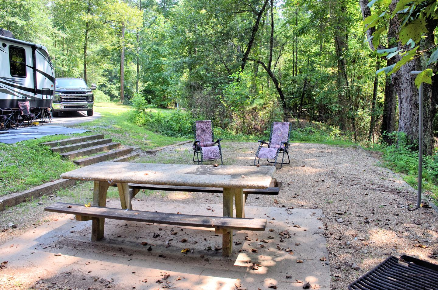 Campsite view..Sweetwater Campground, campsite 14.