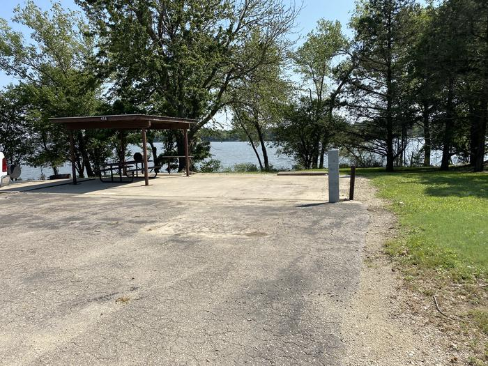 A photo of Site 41A of Loop CCRE at CANNING CREEK with Picnic Table, Electricity Hookup, Fire Pit, Shade, Waterfront, Water Hookup