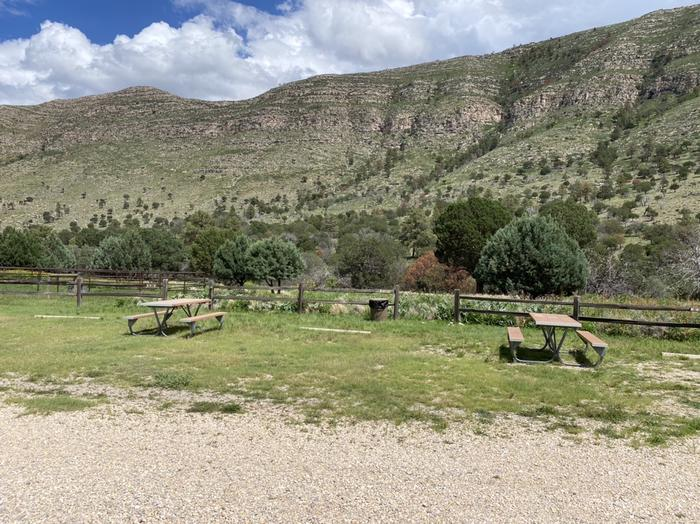 Campsite RV-C this site has a level, natural surface and picnic table. Dog Canyon Campsite RV-C