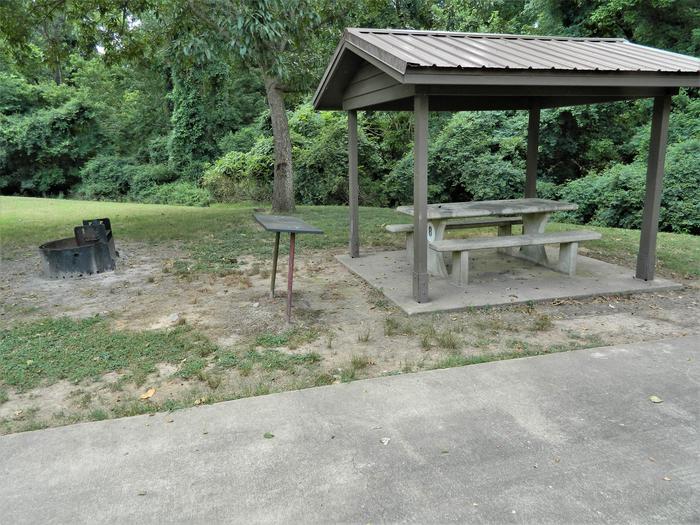 Wilbur D. Mills 08 Picnic Shelter + Fire Pit