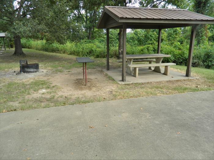 Wilbur D. Mills 09 Picnic Shelter + Fire Pit