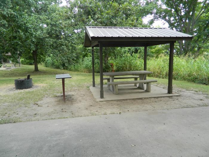 Wilbur D. Mills 11 Picnic Shelter + Fire Pit
