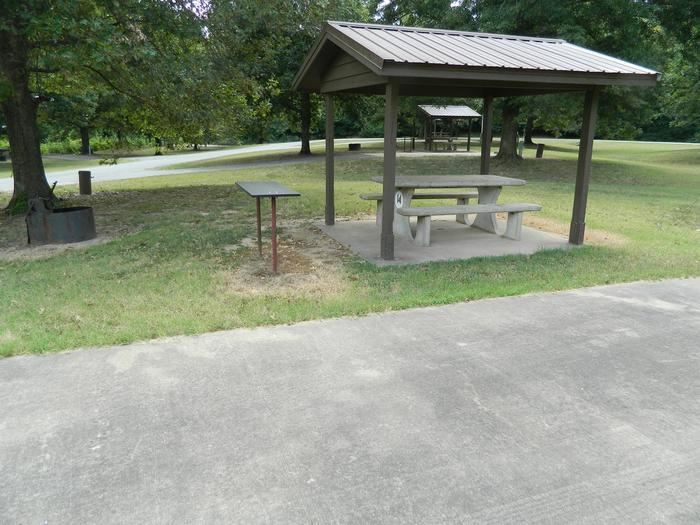 Wilbur D. Mills 14 Picnic Shelter + Fire Pit