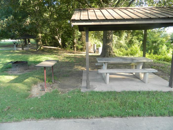 Wilbur D. Mills 15 Picnic Shelter + Fire Pit