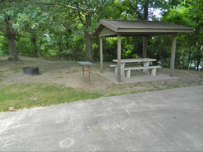 Wilbur D. Mills 16 Picnic Shelter + Fire Pit