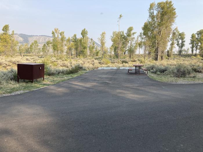 Site 27 East CorridorSite has picnic table, bear box for food storage and fire ring with cooking grate.