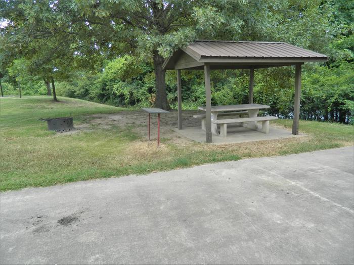 Wilbur D. Mills 20 Picnic Shelter + Fire Pit