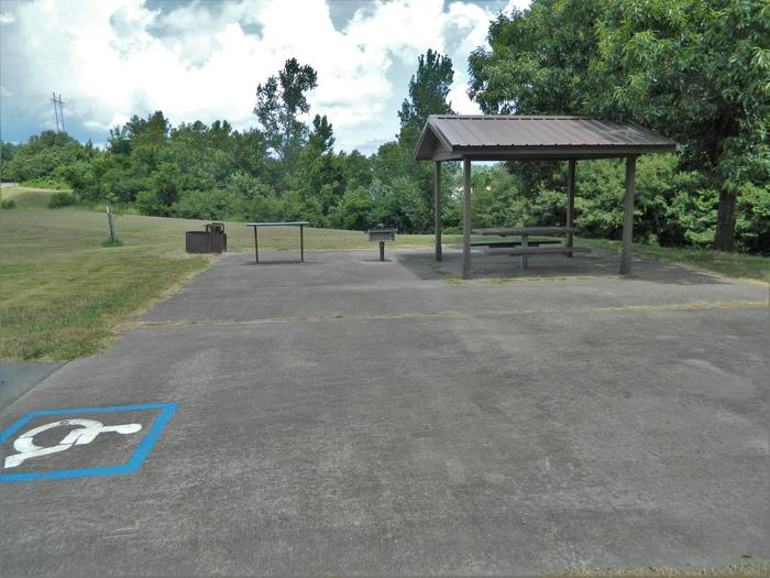 [Handicap Accessible Site] Wilbur D. Mills 21 Picnic Shelter + Fire Pit
