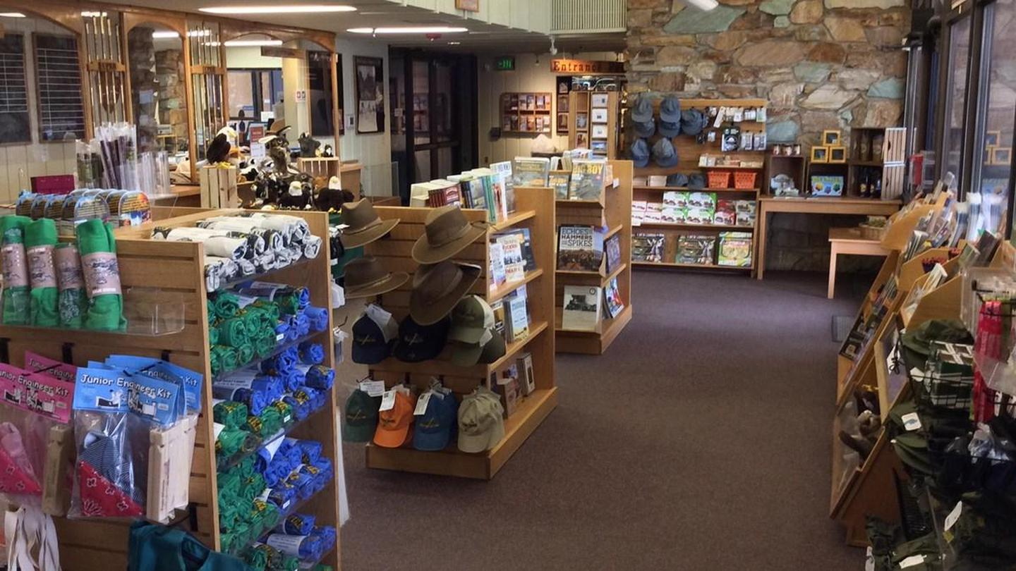 Visitor Center Park StoreWestern National Park Association Park Store offers a wide array of books and educational items to enhance your visit to Golden Spike.