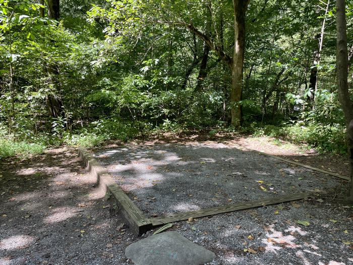 A photo of Site A01 of Loop A at ABRAM'S CREEK CAMPGROUND with Shade, Tent Pad
