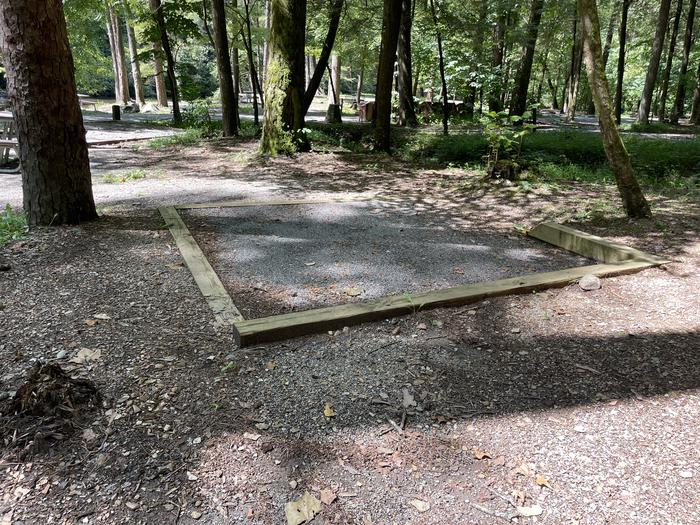 A photo of Site A10 of Loop A at ABRAM'S CREEK CAMPGROUND with Shade, Tent Pad