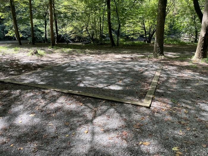 A photo of Site A02 of Loop A at ABRAM'S CREEK CAMPGROUND with Shade, Tent Pad