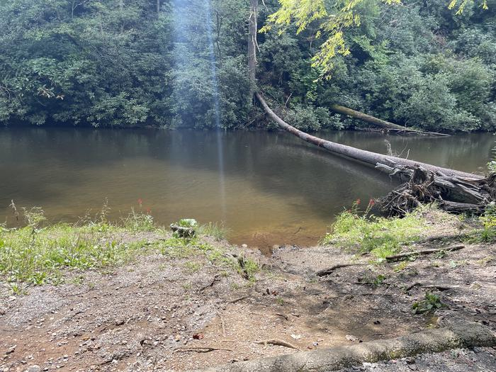A photo of Site A07 of Loop A at ABRAM'S CREEK CAMPGROUND with Waterfront