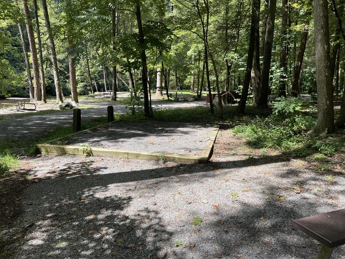 A photo of Site A11 of Loop A at ABRAM'S CREEK CAMPGROUND with Tent Pad