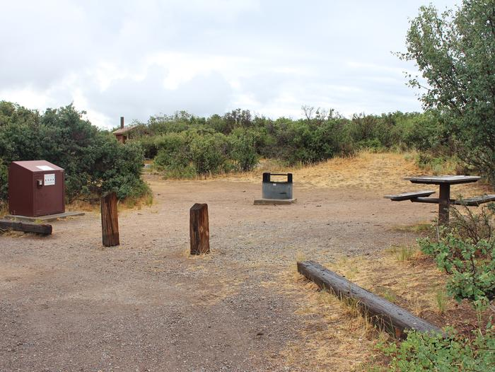 View of Campsite A-011 from parking area