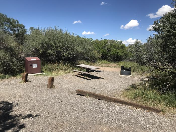 View of social area within Campsite A-010