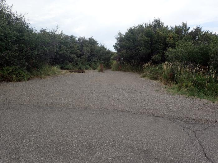 View of parking area for Campsite A-014