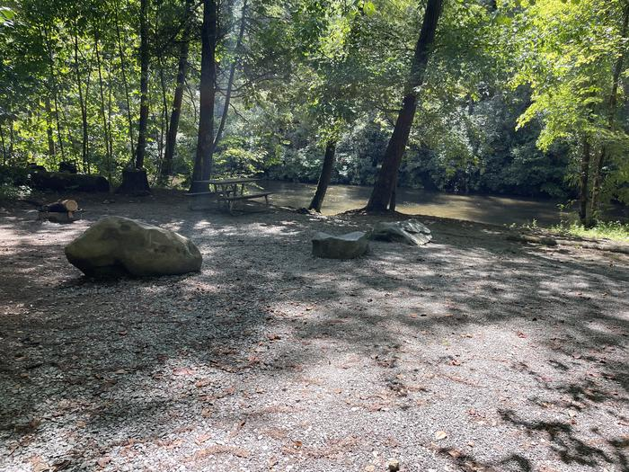 A photo of Site A09 of Loop A at ABRAM'S CREEK CAMPGROUND with Shade, Waterfront