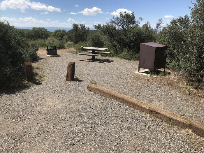 View of social area within Campsite A-016