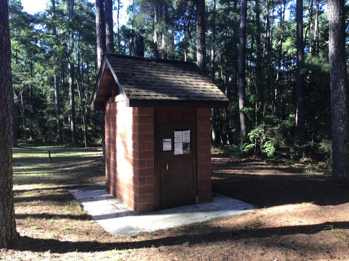 A photo of restroom facility at Rocky Branch Seasonal Campground (SC)