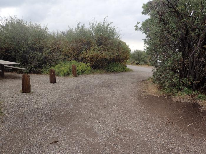 View of parking area for Campsite A-025