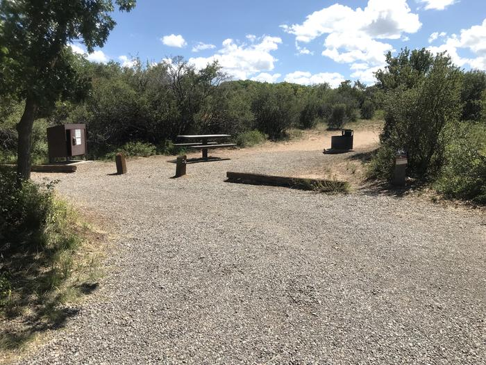 Drive-up view of Campsite A-026