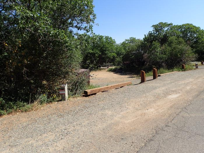 Drive-up view of Campsite A-029