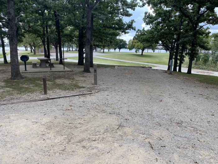 A photo of Site 001 of Loop WHITEHALL BAY  at WHITEHALL BAY with Picnic Table, Electricity Hookup, Shade