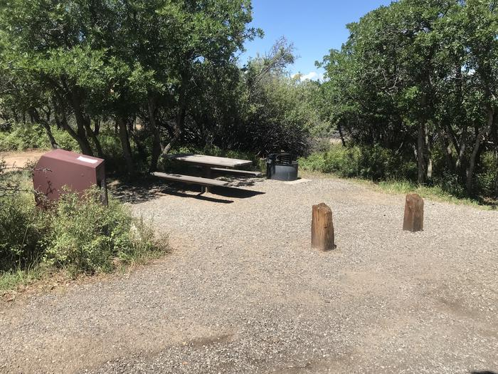 View of Campsite A-031 from parking area