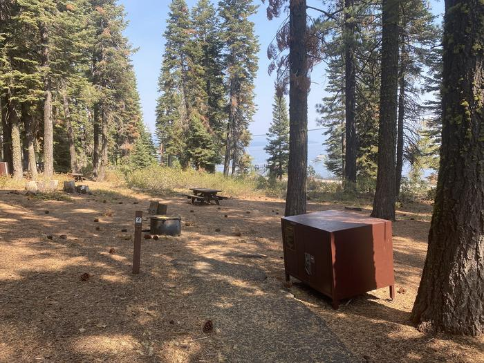 A photo of Site 002 of Loop AREA KASPIAN CAMPGROUND at KASPIAN CAMPGROUND with Picnic Table, Fire Pit, Food Storage