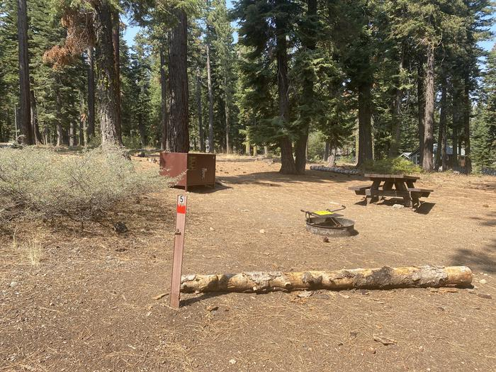 A photo of Site 005 of Loop AREA KASPIAN CAMPGROUND at KASPIAN CAMPGROUND with Picnic Table, Fire Pit, Food Storage