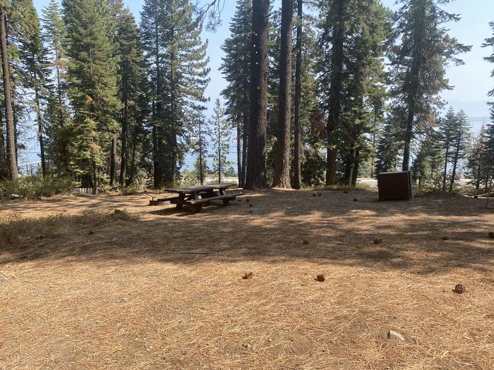 A photo of Site 004 of Loop AREA KASPIAN CAMPGROUND at KASPIAN CAMPGROUND with Picnic Table, Fire Pit, Food Storage